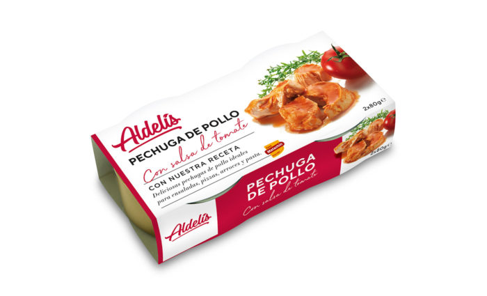 Conserva pechuga pollo tomate 2x80