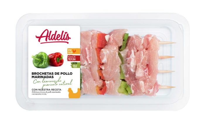 brocheta de pollo marinadas