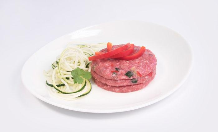 burger de pavo con verduritas braseadas situación