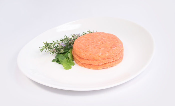 burger de pollo y zanahoria en situación