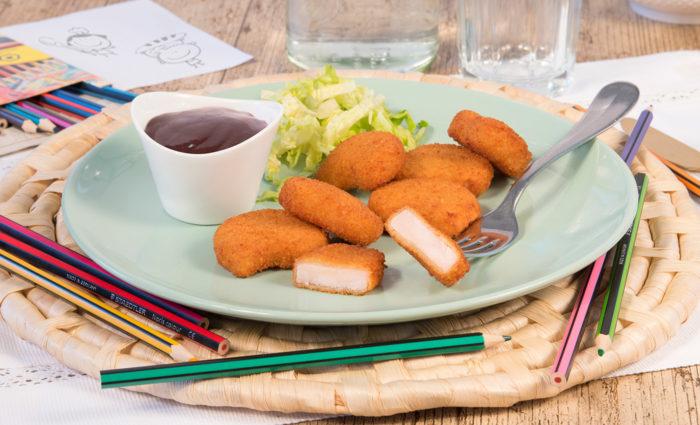 Nuggets de pechuga de pollo cocinado