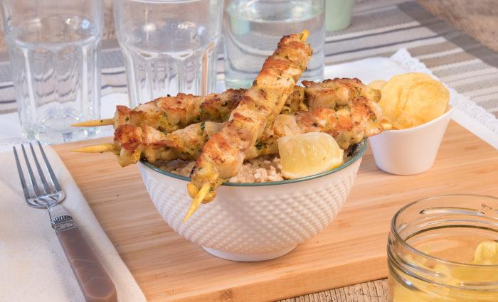 pincho de pollo andaluza cocinado