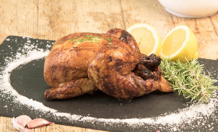 Pollo asado cocinado