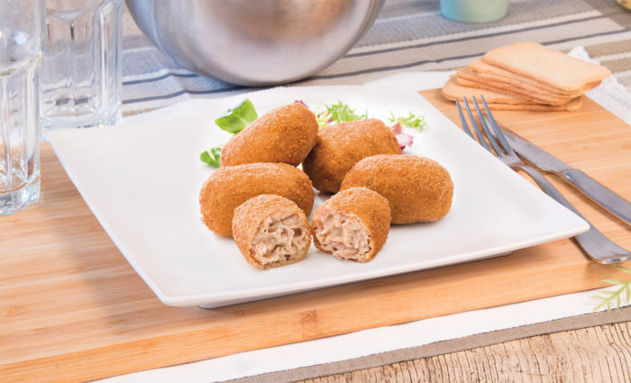 croquetas de cocido cocinadas