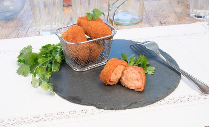 pimientos rellenos de pollo cocinado