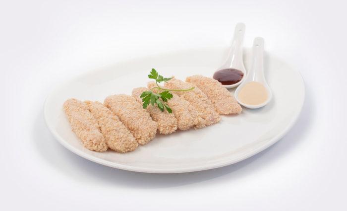 Fingers de pechuga de pollo empanados situación