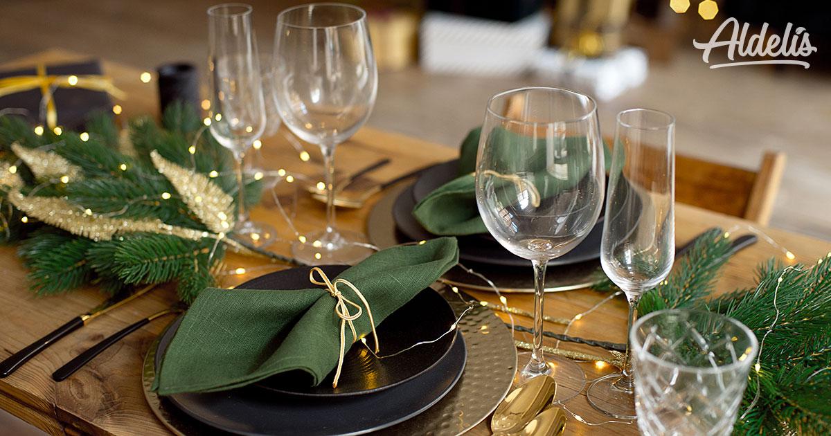 preparar mesa navidad