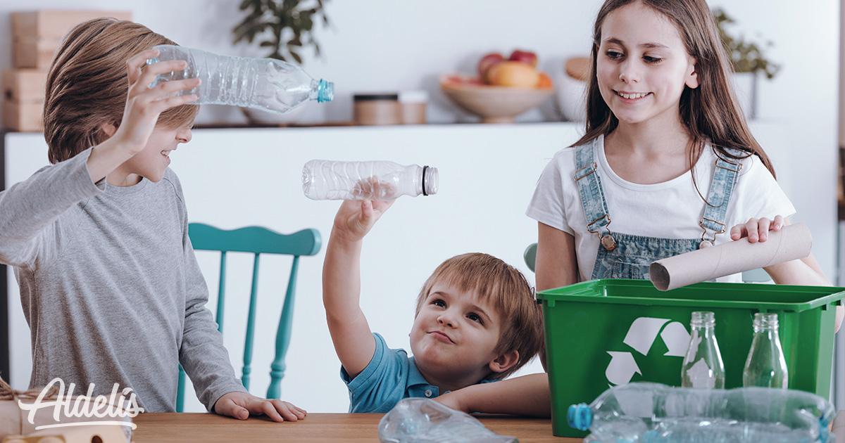manualidades con niños reciclaje
