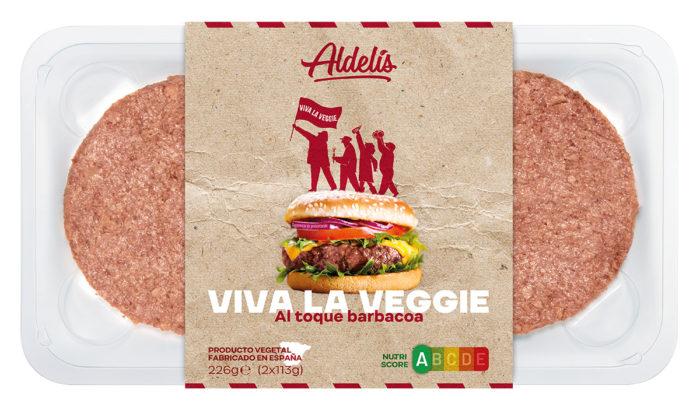 hamburguesa toque barbacoa viva la veggie aldelis