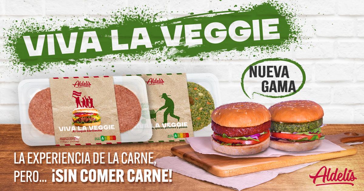 viva la veggie hamburguesas vegetales aldelis