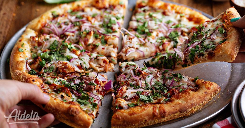 Pizza de pollo y bacon Aldelís