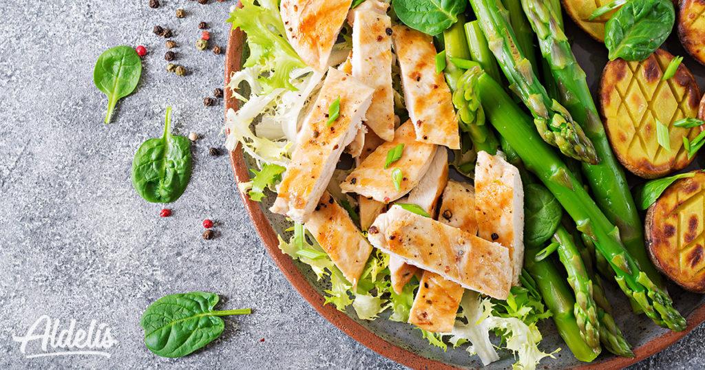 Pollo con verduras e hidratos de carbono Aldelís
