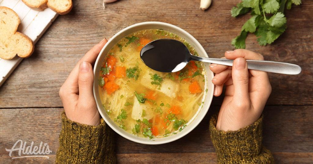 Sopa de pollo Aldelís