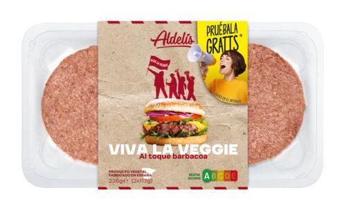 Pruébala gratis: hamburguesa al toque Barbacoa Viva la Veggie Aldelís