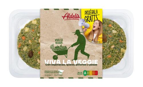Pruébala gratis: hamburguesa de espinacas Viva la Veggie Aldelís