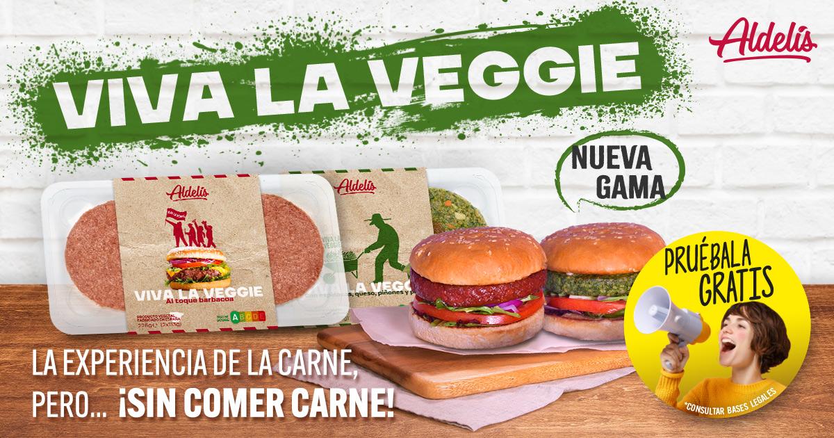 Pruébala gratis: promoción Viva la Veggie Aldelís