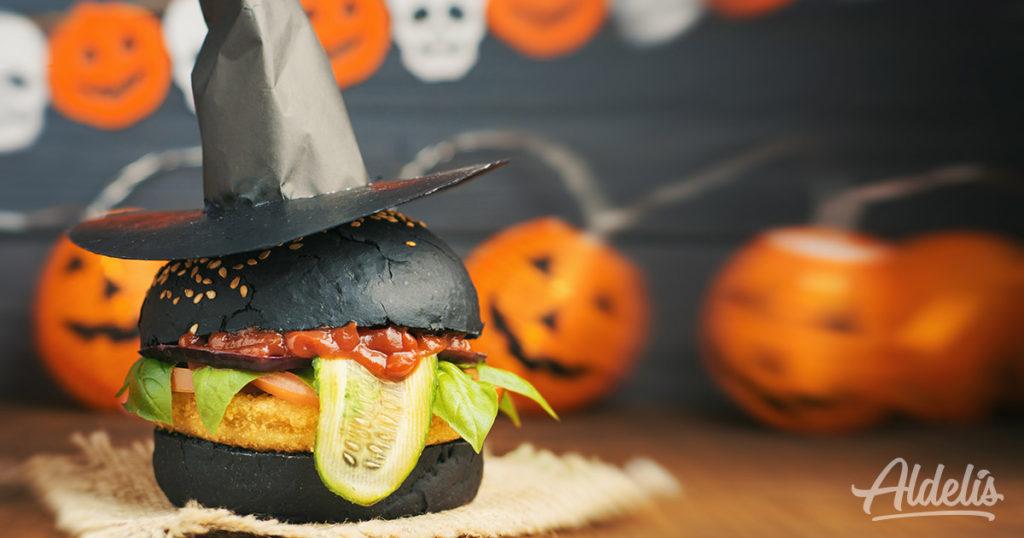 Hamburguesa terrorífica Halloween