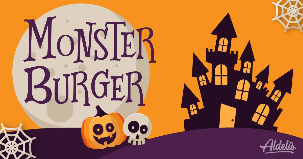 Halloween: hamburguesa para niños