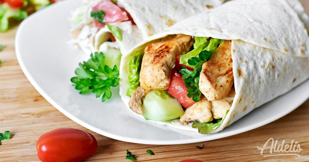 wrap-queso-tomate-pollo-Aldelís